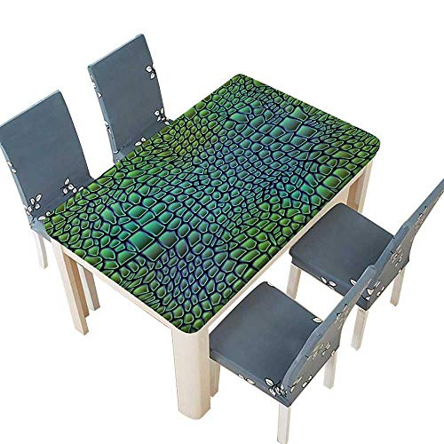 PINAFORE Jacquard Polyester Fabric Tablecloth Alligator Skin Seamless Crocodile Suitable for Home use W25.5 x L65 INCH (Elastic Edge)
