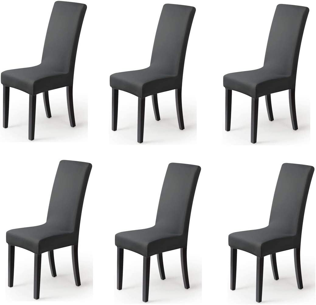 Dining Chair Slipcovers Chair Covers For Dining Chairs Chair Covers Stretch Set Of 6 Black Home Bulklogix Com