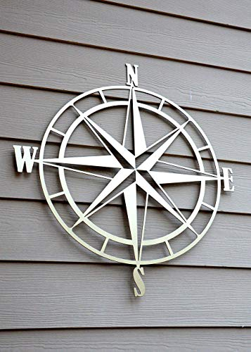Amazon Com Nautical Compass Rose Metal Wall Art Handmade