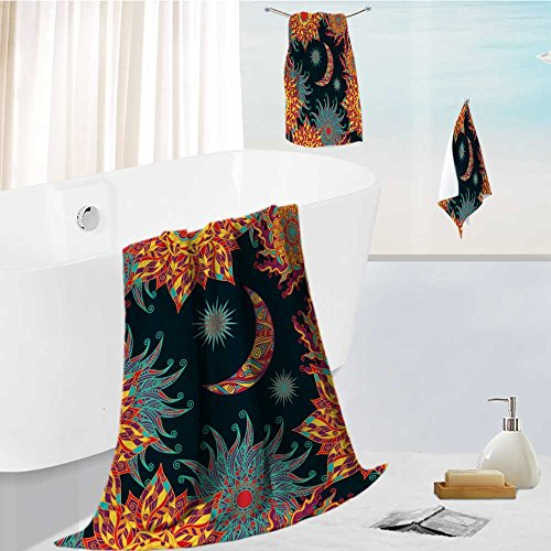 aolankaili Ultra Soft Bathroom Towels Set colorful seamless
