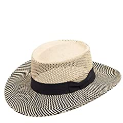 A unique twist to the classic Gambler Panama Hat. This hat features an extremely breathable open-weave crown design which allows cool air to breeze right through during those hot summer days. We personally hand picked these hat-bodies in Ecua...
