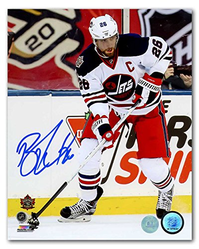 AJ Sports World Blake Wheeler Winnipeg Jets Autographed 2016 Heritage Classic 8x10 Photo