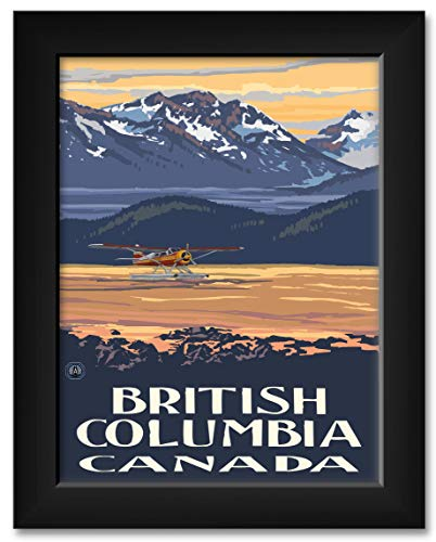 (British Columbia Canada Float Plane Framed Art Print by Paul A. Lanquist. Print Size: 9