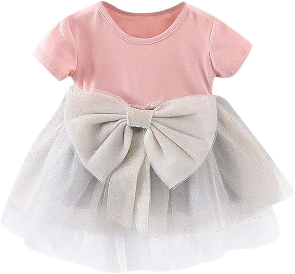 ASHOP - Vestidos niña de Princesa 2019 - Tutú Faldas de Fiesta - Arco sólido Paillette Vestido de Verano - 0-3 Años