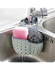 Sink Storage Basket - Sink Caddy Soap and Sponge Holder Drying Rack Holders Dish Drying Rack Sink Shelf, by Ashnna (Beige, Pink, Green (random))