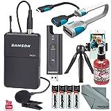 Samson XPD2 Lavalier USB Digital Wireless Microphone System with Broadcast Accessory Bundle