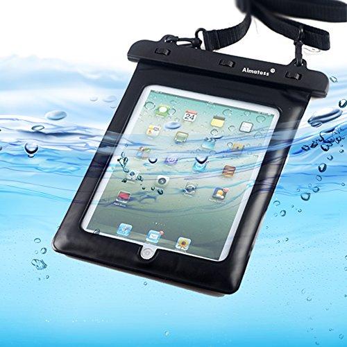 Almatess Universal Waterproof Tablet Case with Lanyard Protective Multi Function Marine for iPad Mini / iPad Mni Retina / iPad / iPad Air / Kindle / Kindle Paperwhite / Kindle Fire (Black)