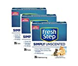 Fresh Step Multi-Cat, Clumping Cat Litter, Unscented (25 lb - 3 box)