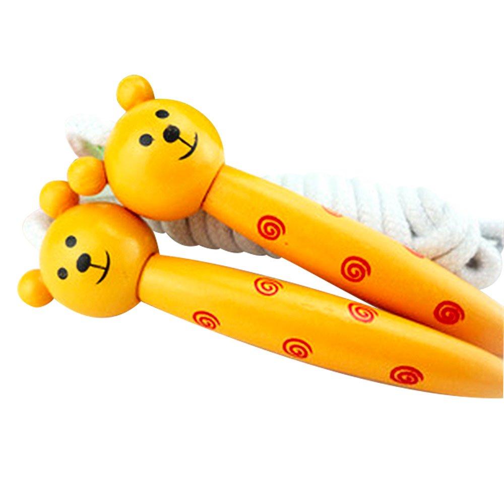 DUYI Cartoon子ジャンプロープ、カラフルな木製ハンドル、Bear B016PQ8WLG