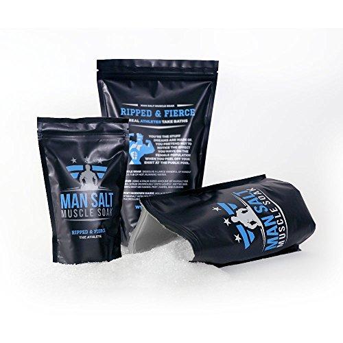 ManSalt Muscle Soak -Epsom Salt Bulk- - Best Bath Salts (Athlete, 3LB)