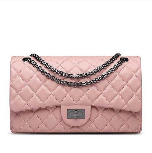 AASSDDFF bolsas de mensajero de las mujeres 2016 marca genuino bolsa de hombro bolso de lujo de las mujeres bolsos crossbody bolsos de diseño, pink30 * 9 * 18 cm pink30 * 9 * 18cm