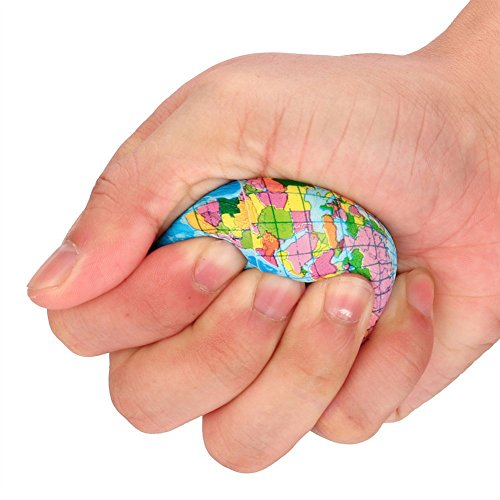 yunbox299 Squishy Squeeze World Map Globe Palm Ball Slow Rising Stress Reliever Kids Toys 10cm by yunbox299 (Image #7)