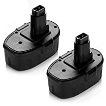 Powerextra 2 Pack Combo 18V XRP 2.0 Amp Hour Pod-style 18-Volt Battery for Dewalt 9096