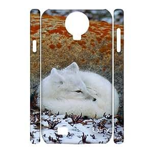 Customized Case for SamSung Galaxy S4 I9500 3D - The Arctic Fox ( WKK-R-530419 )