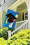 Cheap Evergreen Graduation Congratulations Double-Sided Appliqué House Flag – 28″ W x 44″ H