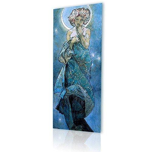 Alonline Art - Moon Alphonse Mucha PRINT On CANVAS (Synthetic, UNFRAMED Unmounted) 12