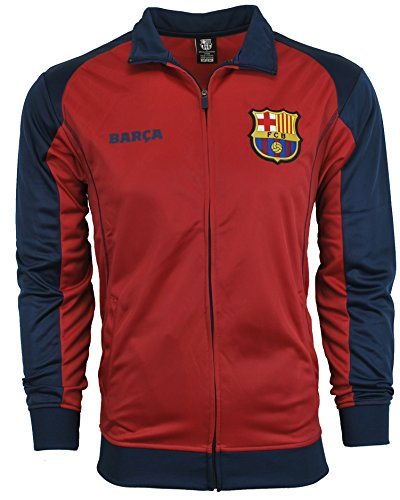 (Fc Barcelona Jacket Track Soccer Adult Sizes Soccer Football Official Merchandise (L))