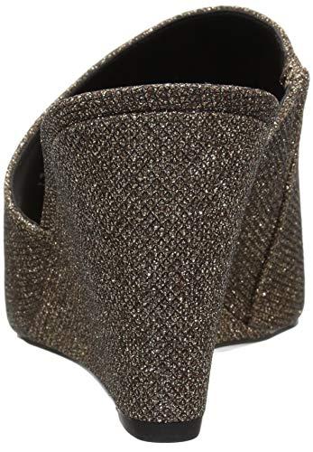 West Slide Nine Natural Sandal Black Fabric Janissah Women's dTd7xqt