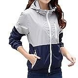 ZCL Women Quick Dry Windbreaker, Autumn Lightweight Hooded Jacket Sun Protection Outerwear