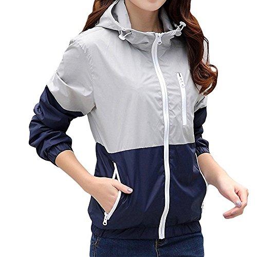 ZCL Women Quick Dry Windbreaker, Autumn Lightweight Hooded Jacket Sun Protection - Breaker Womens