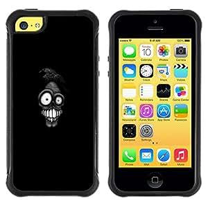 Suave TPU GEL Carcasa Funda Silicona Blando Estuche Caso de protección (para) Apple Iphone 5C / CECELL Phone case / / Scary Goofy Character Cartoon Death /