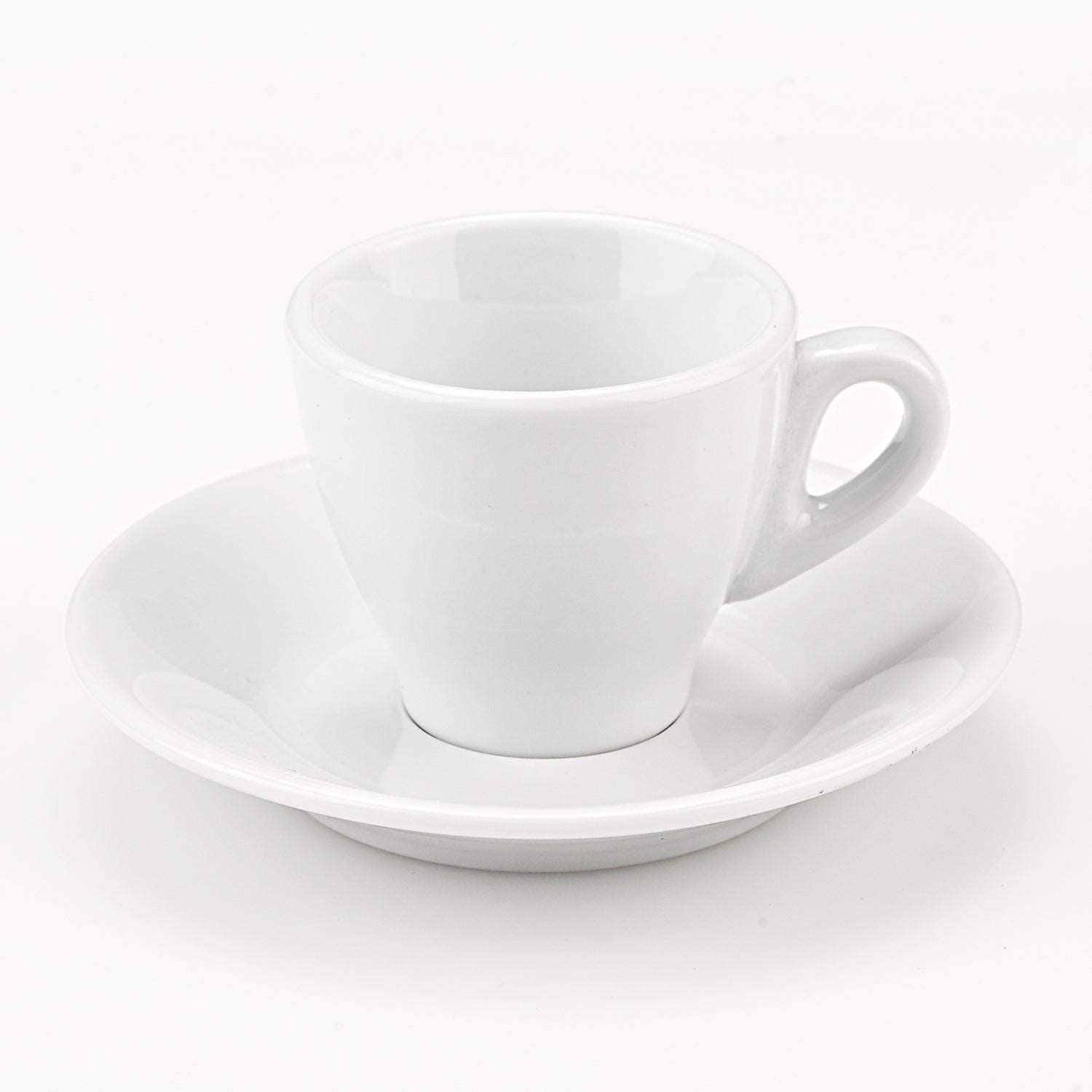 Lorren Home Trend Set of 6 Porcelain Espresso Cups in White, by s