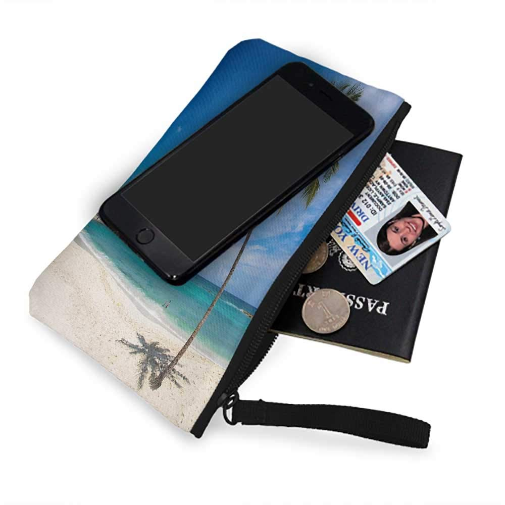 New Fashion Wristlets Wallets ,Sea Landscapes,sea Beach Zip Coin Purse