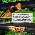 Ampel-24-Sedia-a-Sdraio-Doppia-Panama-Nera-Tenda-da-Sole-Regolabile-Lettino-Prendisole-per-Due-Persone-230-x-180-cm-100-Resistente-alle-intemperie