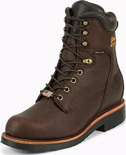 Chippewa Men's 8 Inch Rich Oiled Walnut Waterproof Ins Lace-Up Rugged Boot,Brown,12 E US (Chippewa Waterproof Boots)