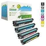 AZ Compatible with HP 6487/648A (CE260A, CE261A, CE262A, CE263A) 4 Color Toner Set for Color LaserJet CP4025 CP4525, CM4540 MFP, CP4525xh, CP4025n, CP4525n, CP4025dn, CP4525dn