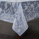 Harmony Scroll Tablecloth (Blue, 60' X 120' Rectangular)