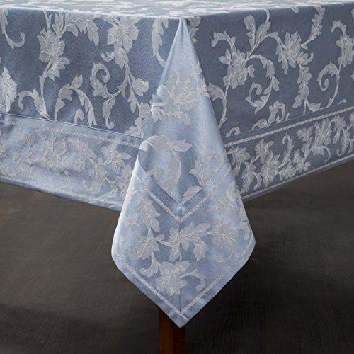 (Harmony Scroll Tablecloth (Blue, 60