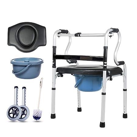 Andador de edad avanzada, aleación de aluminio con asiento ...