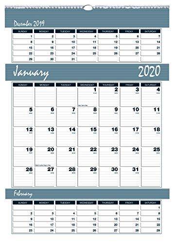 House of Doolittle 2020 Three-Month Wall Calendar, Bar Harbor, 12 x 17 Inches, January - December, (HOD342-20) ()