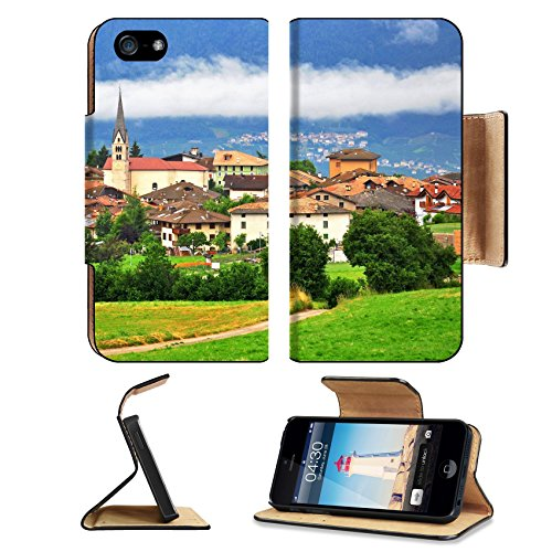 Liili Apple iPhone 5 Plus iPhone 5S Plus Flip Pu Leather Wallet Case View of Smarano old town in Dolomites Trentino Alto Italy iPhone5 IMAGE ID 39569086 - Valleys Framed Landscape Art