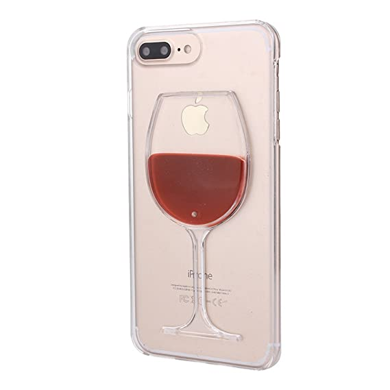 separation shoes 33f47 7e757 Rihan 3D Design Flowing Liquid Red Wine Glass Transparent Plastic Case for  Apple iPhoneX iPhoneXS (iPhone X XS)