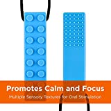 Sensory Chew Necklace for Boys and Girls (4-Pack) - Chewable Chewelry for Autism ADHD Oral Motor Chewing Biting Teething - Chew Brick by Solace