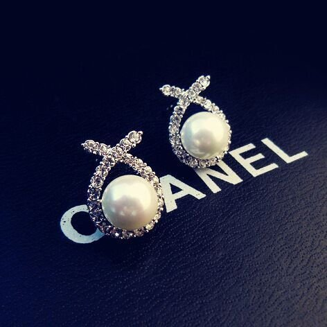 usongs 925 and star big elegant inlaid pearl earrings diamond earrings bride wedding woman with hypoallergenic silver