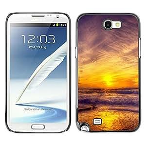 "For Samsung Note 2 N7100 , S-type Puesta de sol Mar Beautiful Nature 11"" - Arte & diseño plástico duro Fundas Cover Cubre Hard Case Cover"