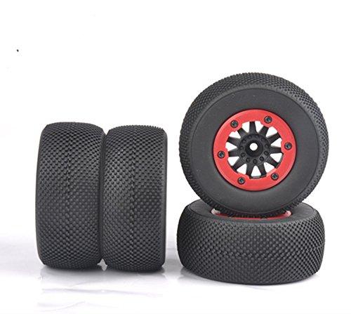 FidgetGear 4Pcs Bead-Loc Short Course Tire Wheel Rim for HSP HPI 1:10 TRAXXAS Slash RC Car from FidgetGear