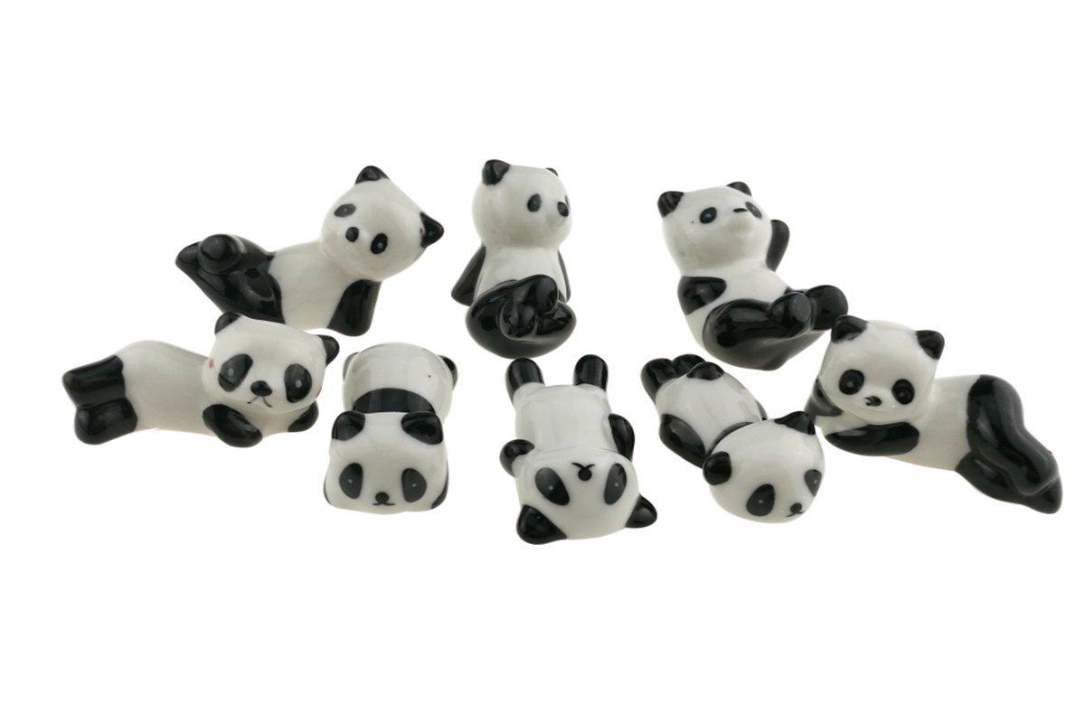 Winterworm - Juego de 8 soportes de cerámica para palillos chinos ...