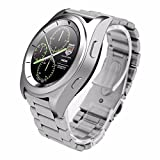 PINCHU Bluetooth Smart Watch G6 Heart Rate Monitor Pedometer PSG Bracelet Wearable Life Smart Watch for iPhone Android vs Xiaomi, Stainless steel