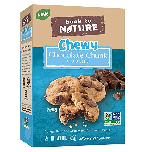 Back to Nature Non-GMO Chewy Chocolate Chunk Cookies, 8 Ounce