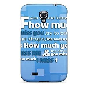 Matheilliams Premium Protective Hard Case For Galaxy S4- Nice Design - I Missed You