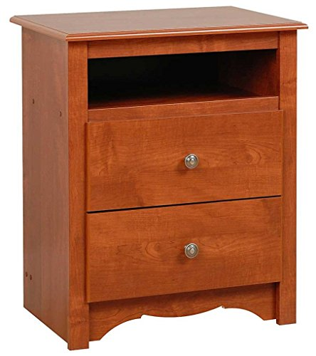 - Prepac Monterey Cherry 2-Drawer Tall Night Stand