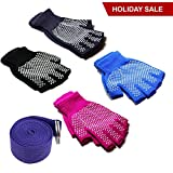 Stargoods Yoga Gloves - Pack of 4 Non slip pairs for Training & Workouts +...