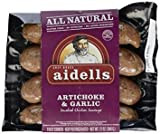 Aidells Artichoke & Garlic Smoked Chicken Sausage 12 Oz (4 Pack)