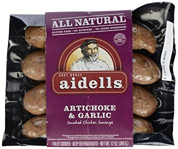 Aidells Artichoke & Garlic Smoked Chicken Sausage 12 Oz (4 (Artichoke Garlic)