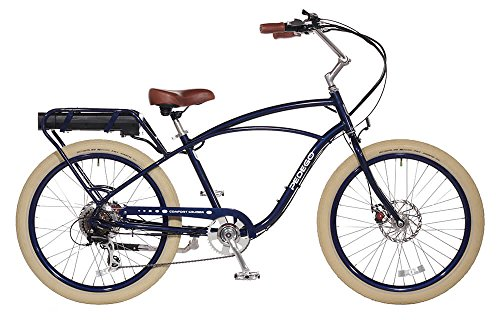 "Pedego Comfort Cruiser 26"" Classic Midnight with Crème Balloon Package 36V 15Ah"