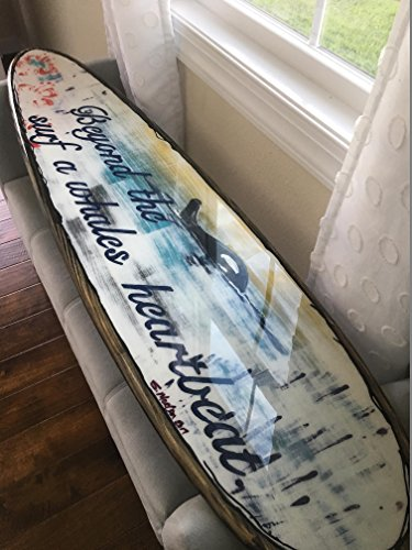Orginal surfboard wall art , wall hanging by Flyone Boardshop
